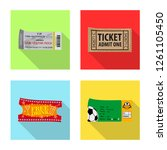 isolated object of ticket and... | Shutterstock .eps vector #1261105450