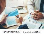 co working business team...   Shutterstock . vector #1261106053