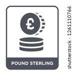 pound sterling icon vector on... | Shutterstock .eps vector #1261110766