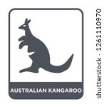 australian kangaroo icon vector ... | Shutterstock .eps vector #1261110970