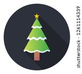 christmas tree icon.spruce... | Shutterstock .eps vector #1261114339