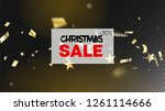 sale tinsel confetti isolated ... | Shutterstock .eps vector #1261114666