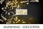 2019 christmas tinsel confetti  ... | Shutterstock .eps vector #1261115026