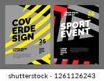 layout poster template design... | Shutterstock .eps vector #1261126243