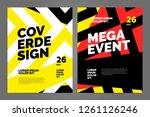 layout poster template design... | Shutterstock .eps vector #1261126246