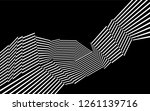 black and white stripes  lines... | Shutterstock .eps vector #1261139716