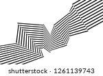 black and white stripes  lines... | Shutterstock .eps vector #1261139743