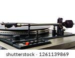retro turntable vinyl record... | Shutterstock . vector #1261139869