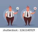 cute office worker holding... | Shutterstock .eps vector #1261140529