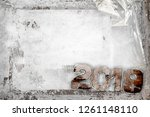2019 happy new year grunge... | Shutterstock . vector #1261148110