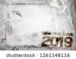 2019 happy new year grunge... | Shutterstock . vector #1261148116
