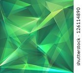 abstract faceted emerald green... | Shutterstock . vector #126114890