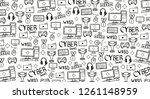 cyber sport banner. esports... | Shutterstock .eps vector #1261148959