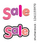 a perspective 3d sale banner in ...   Shutterstock .eps vector #1261155970