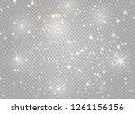 dust white. white sparks and... | Shutterstock .eps vector #1261156156