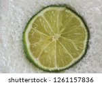 slice of lime floating in the...   Shutterstock . vector #1261157836