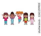 cute children cartoon | Shutterstock .eps vector #1261159903