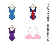 vector illustration of bikini... | Shutterstock .eps vector #1261161919