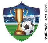 football sport cartoon   Shutterstock .eps vector #1261161943