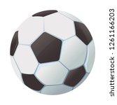 soccer ball icon   Shutterstock .eps vector #1261166203
