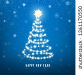 new year tree silhouette made... | Shutterstock .eps vector #1261170550