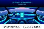 artificial intelligence car... | Shutterstock .eps vector #1261175356