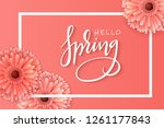 vector illustration of spring... | Shutterstock .eps vector #1261177843