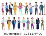 professional workers people set ... | Shutterstock .eps vector #1261179400