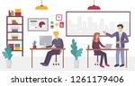 people in creative coworking... | Shutterstock .eps vector #1261179406