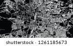 urban vector city map of nagpur ... | Shutterstock .eps vector #1261185673