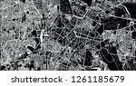 urban vector city map of... | Shutterstock .eps vector #1261185679