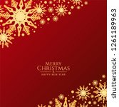 abstract red merry christmas... | Shutterstock .eps vector #1261189963