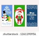 vector illustration of merry... | Shutterstock .eps vector #1261190956
