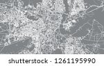 urban vector city map of agra ... | Shutterstock .eps vector #1261195990