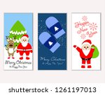 vector illustration of winter... | Shutterstock .eps vector #1261197013