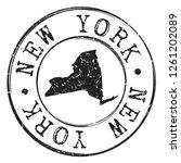 new york silhouette postal... | Shutterstock .eps vector #1261202089