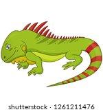 cartoon illustration of funny...   Shutterstock . vector #1261211476