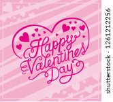 awesome happy valentine... | Shutterstock .eps vector #1261212256