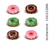3d realistic vector set of... | Shutterstock .eps vector #1261212886
