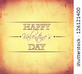 vintage card with text happy... | Shutterstock . vector #126121400
