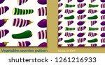 vegetable seamless pattern.... | Shutterstock .eps vector #1261216933