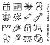 party icons set. vector... | Shutterstock .eps vector #1261217413