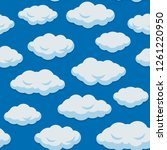 seamless cloud pattern with... | Shutterstock .eps vector #1261220950