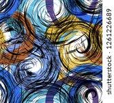seamless background pattern ...   Shutterstock .eps vector #1261226689