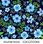 seamless floral pattern for... | Shutterstock .eps vector #1261231066