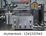 measuring instrument at dairy... | Shutterstock . vector #1261232563