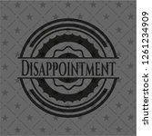 disappointment dark emblem.... | Shutterstock .eps vector #1261234909