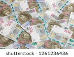 500 pln banknotes background | Shutterstock . vector #1261236436