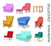 set of modern colorful soft...   Shutterstock .eps vector #1261237510
