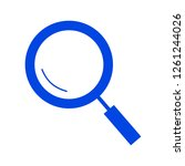 magnifying glass icon | Shutterstock .eps vector #1261244026